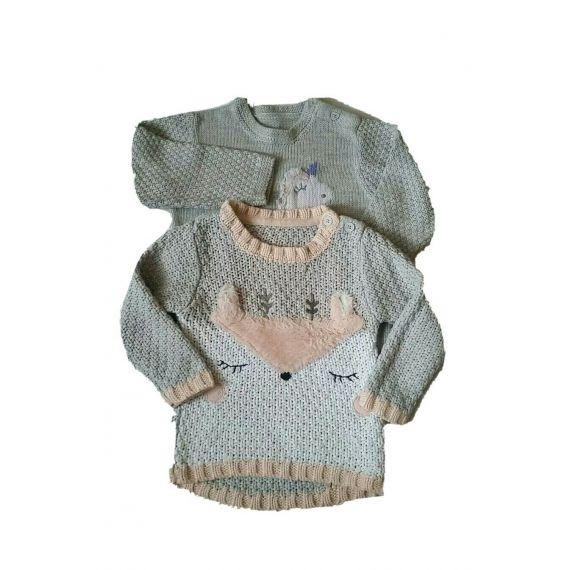 Baby girl grey jumper cardigan 18-24 months