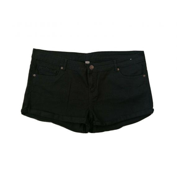 Black denim shorts UK 20