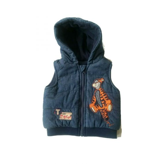 Baby boy padded hooded gilet 3-6 months