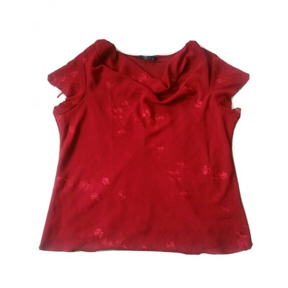 Ladies and Women red blouse top UK 20
