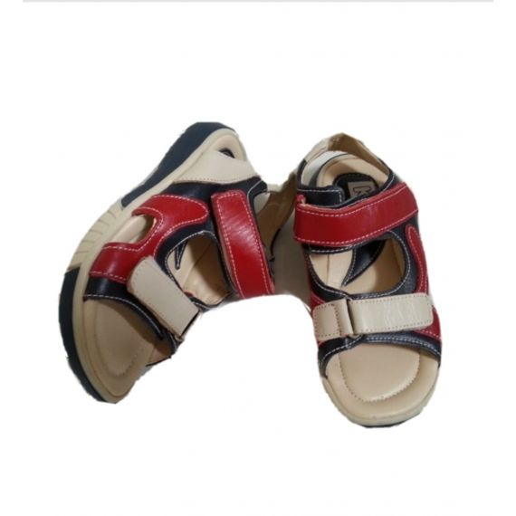 Kids cream mix velcro sandals, size UK 10, EU 28