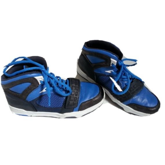 Boys pre-owned blue hitop trainers size 3