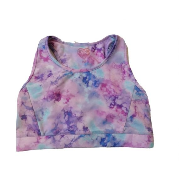 Girls cropped active top 8-9 years