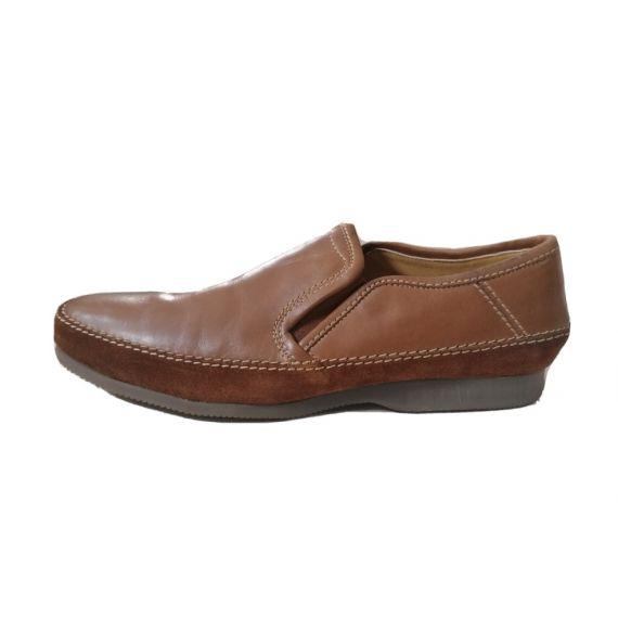 Men M&S Brown slip on shoe UK 10
