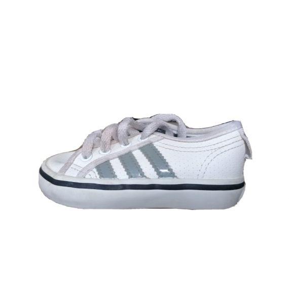 Baby boy Adidas white trainers UK 4 EU 20