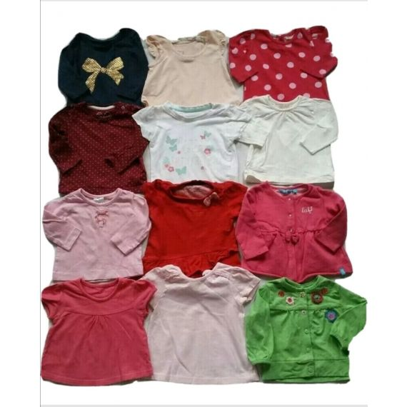 Baby girl selection of t-shirt 0-3 months