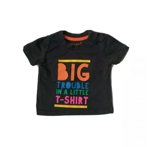 Big trouble t-shirt 0-3m