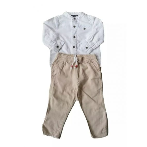 White/beige outfit 9-12m