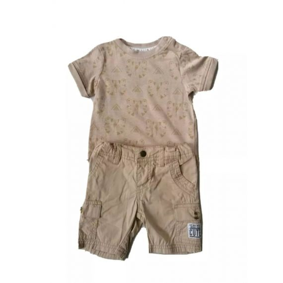 Beige outfit 3-6m