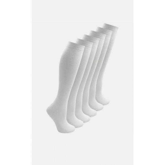 3 x white knee sock UK 12.5-3