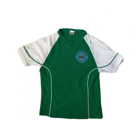 Football green t-shirt 5-6 years