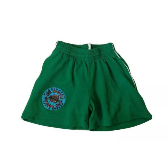 Green football shorts 3-4 years