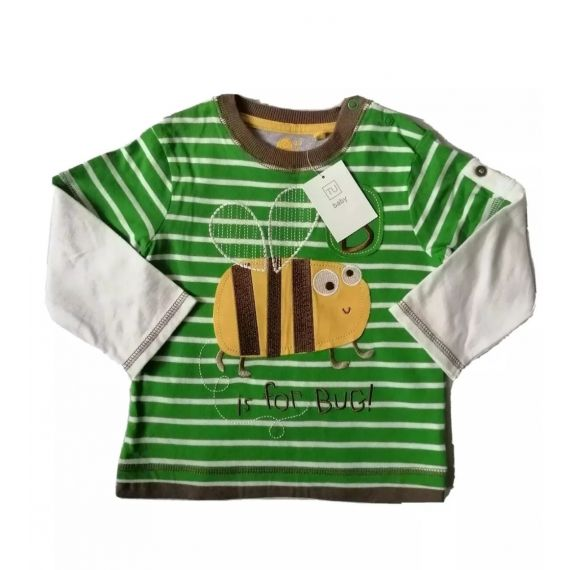 B for bug t-shirt 12-18m