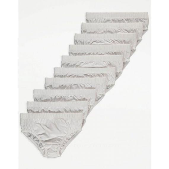 White 10 pack brief
