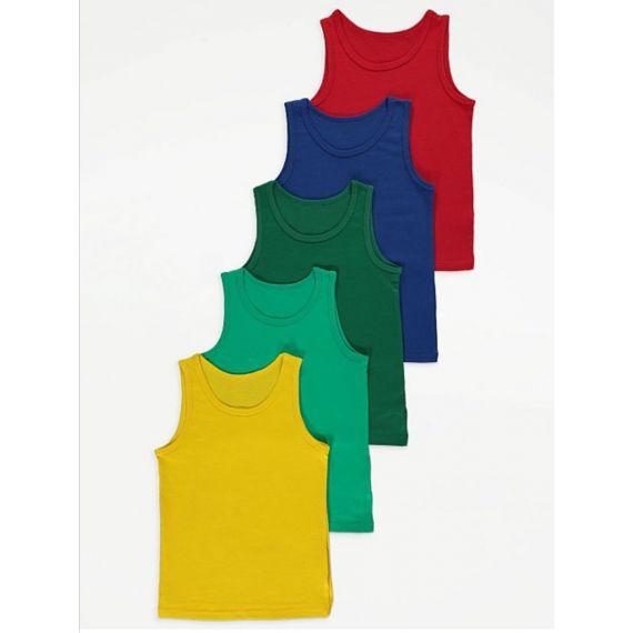 Colorful 5 pack vest