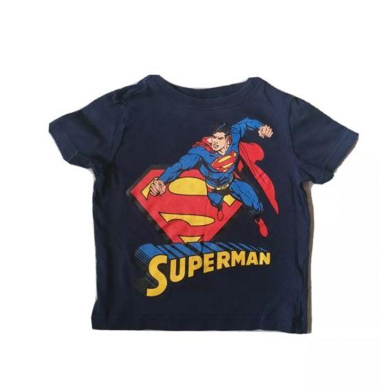 Superman navy t-shirt 12-18m