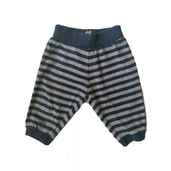 H&M stripe trouser 2-4m