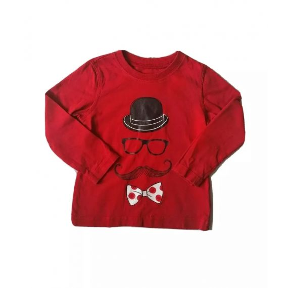 Red bow tie t-shirt 12-18m