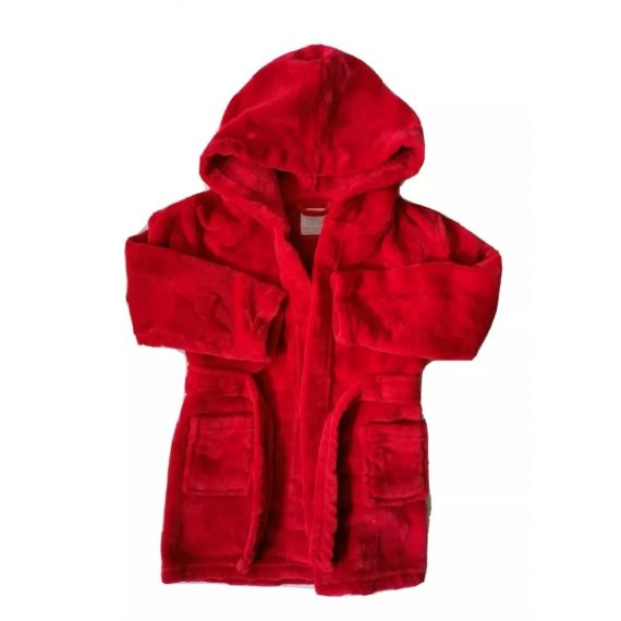 Red bathrobe 18-24m